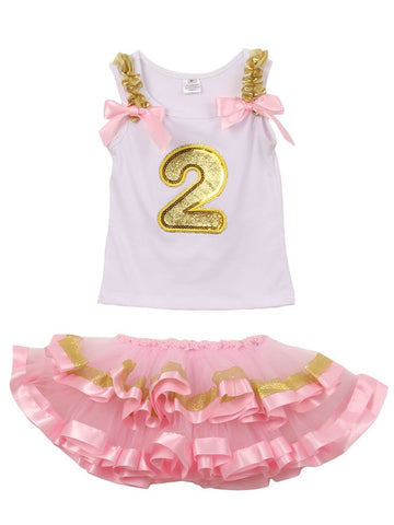 Cute Birthday Tutu Set