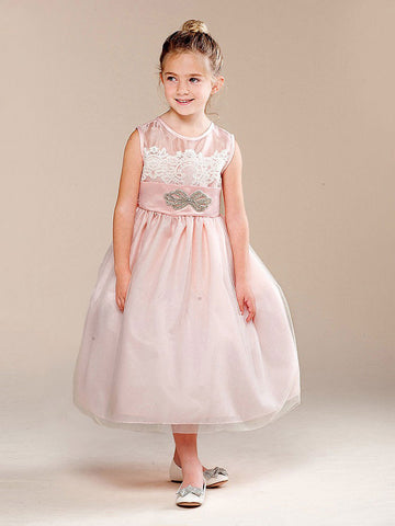 Gorgeous Tulle Illusion Dress with Embroidery