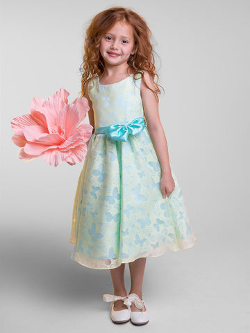 Sweet Butterfly Design Organza Dress