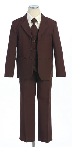 Chocolate Brown Plain suit with vest