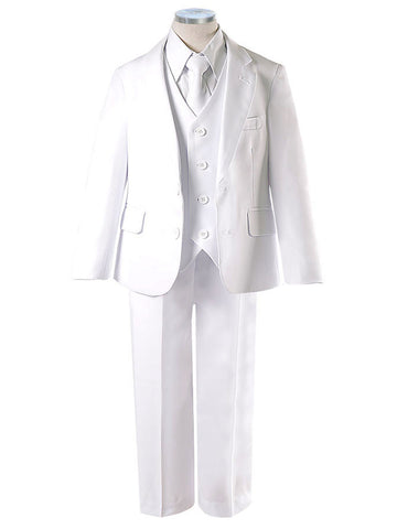 White Five Piece Boys Suite