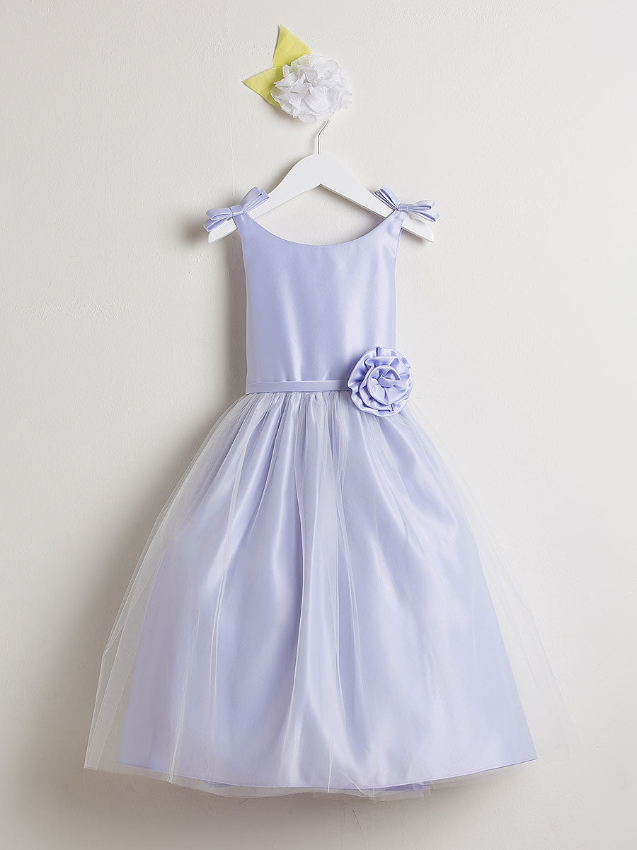 Sweet Satin And Tulle Flower Girl Dress Just Unique Boutique