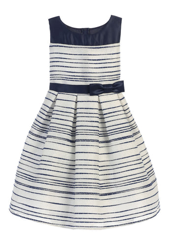 Sweet Striped Sleeveless Dress