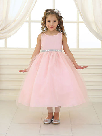 Flower girl dresses champagnebrown flower girl dresses just champagne satin and tulle flower girl dress mightylinksfo