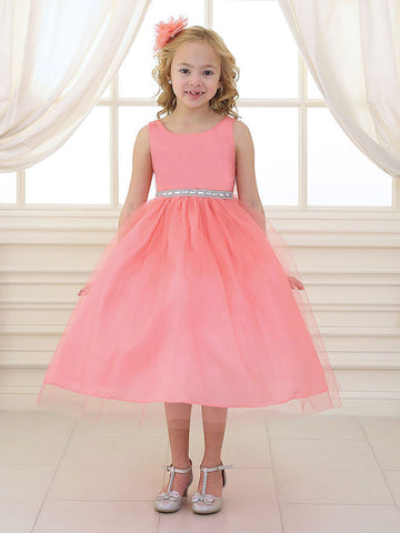 Sweet Satin and Tulle Communion Dress