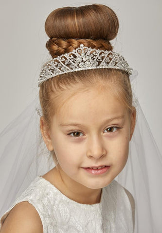 Rhinestone Crown with Veil