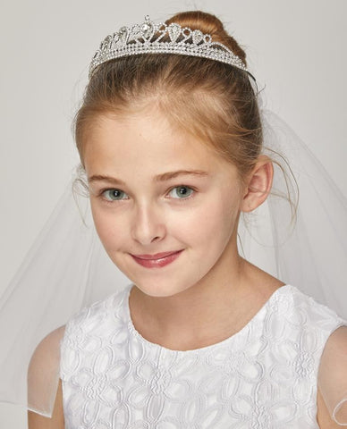 Adorable Rhinestone Crown with Veil
