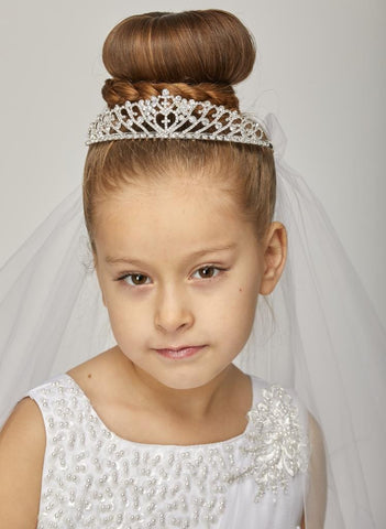 Cute Rhinestone Crown with Veil