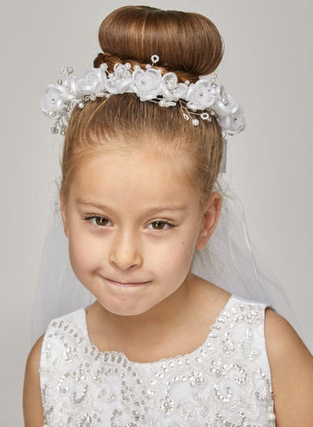 Sweet Rhinestone Crown with Veil