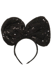 Trendy Sequin oversized Bow Headband