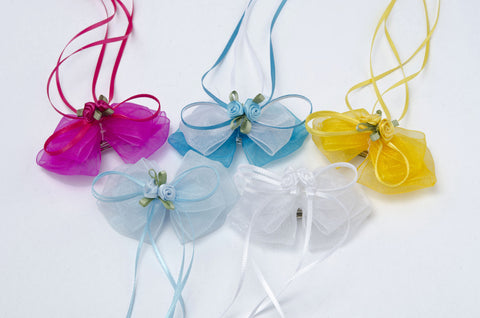 Organza hairbow (Set of Two)