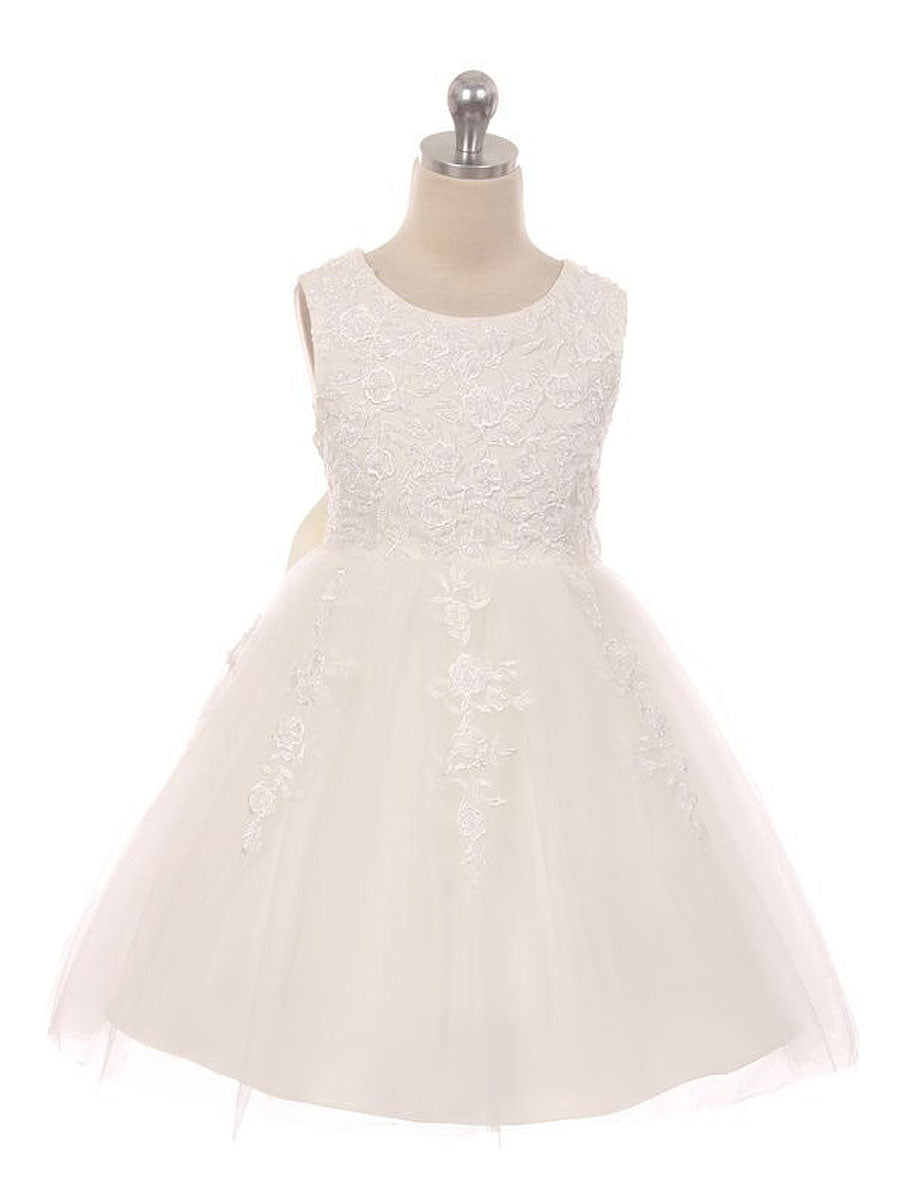 Gorgeous Lace Flower Girl Dress with Oversized Bow