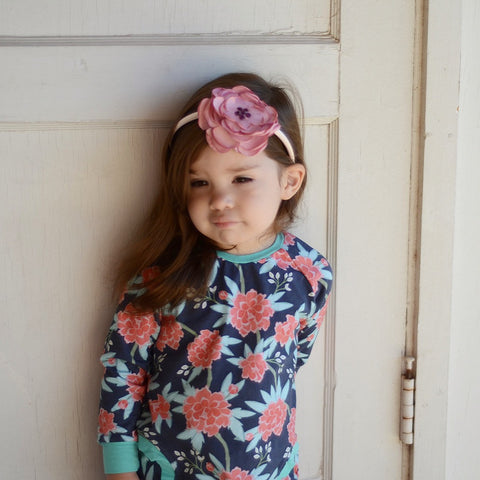 Handmade Sweet Mauve Color headband