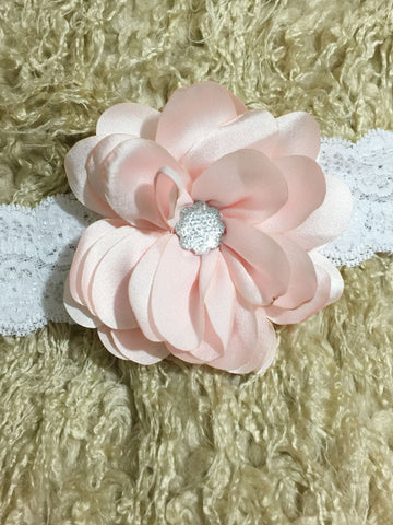Sweet White Lace Flower Girl Headband