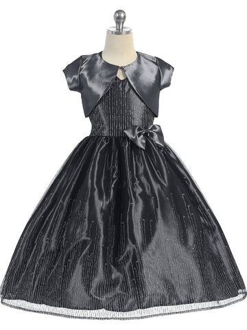 Halter Tulle Dress with Matching Taffeta Bolero