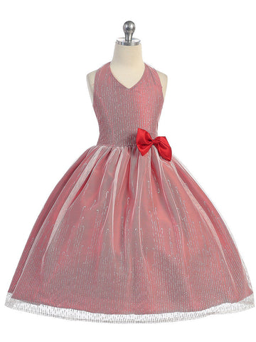 Halter Tulle Dress with Matching Bolero