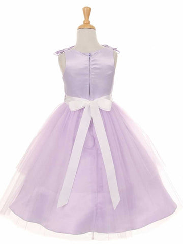 Lovely Matte Satin Dress With Tulle Skirt