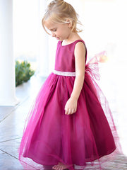 Sweet Satin and Tulle Flower Girl Dress