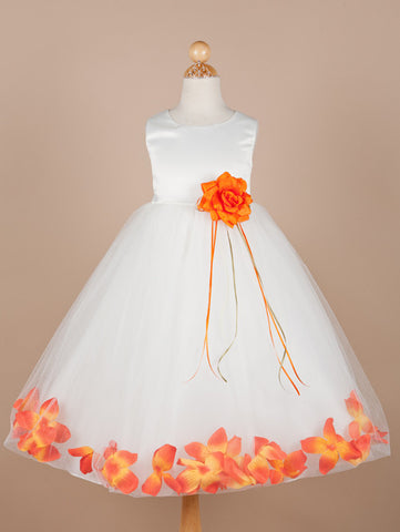 Classic petal dress with matching flower