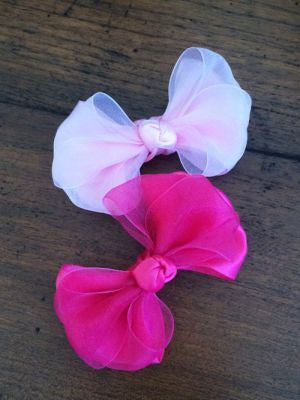 Handmade Organza and Satin Hairbows