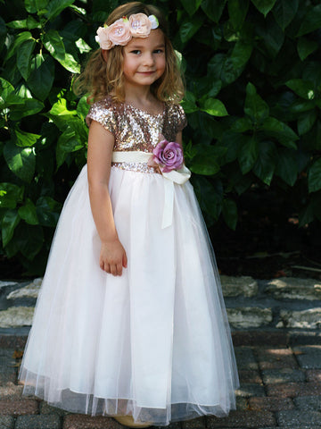 Gorgeous Sequin Dress with Full Tulle Skirt