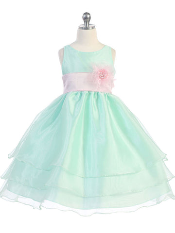 Flower girl dresses blueturquoise flower girl dresses just adorable mint overlay flower girl dress with sash and flower mightylinksfo