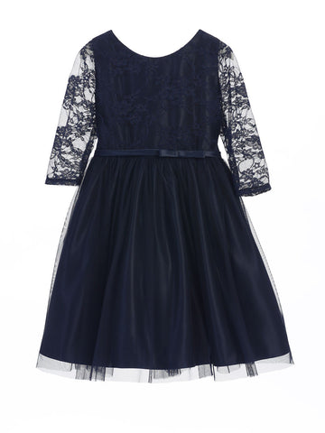 Lovely Lace Ballerina Style Dress with 3/4 Sleeve