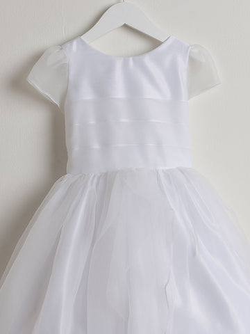 Beautiful First Communion Dress with Pleated Bodice