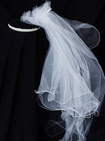 Dainty Rhinestone Crown Communion Veil