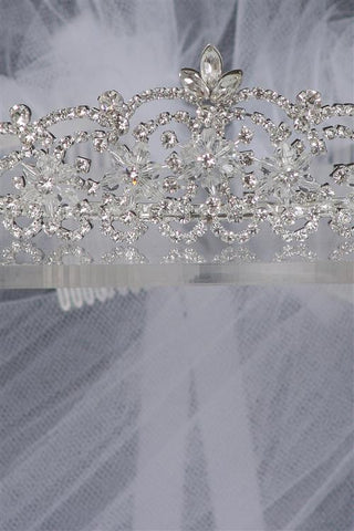 Stunning Crystal stone crown with veil