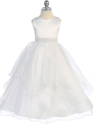Flower girl dresses white flower girl dresses just unique boutique amazing white satin and organza layered flower girl dress mightylinksfo
