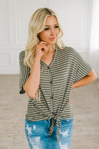 Kick Back Stripe Top