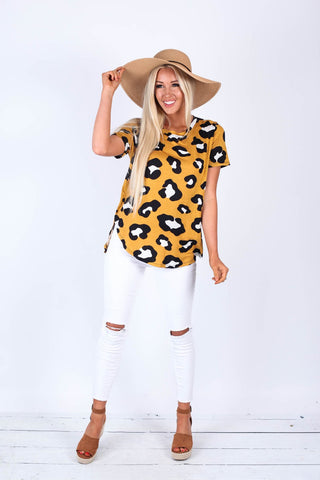 Wild Printed Tops in Yellow