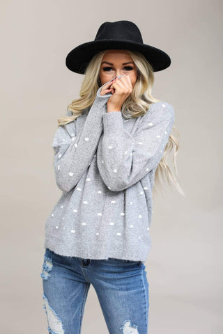 Be Cool Sweaters Boyfriend Polka Sweater