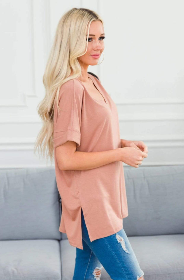 Zenana Outfitters Coming Soon Eggshell / S / 04-K-06 Caterina Rolled Sleeve Top