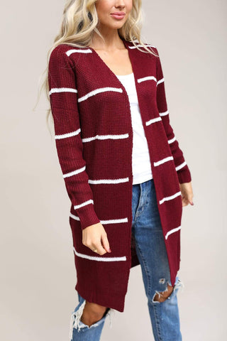 Active USA Coming Soon Coziest Ever Stripe Cardigan