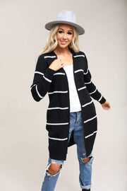 Active USA Coming Soon Black/White / S / 04-Q-06 Coziest Ever Stripe Cardigan
