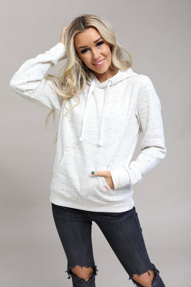 Reflex Coming Soon Marled Oatmeal / S / 13-G-03 Haisley Hooded Sweatshirt