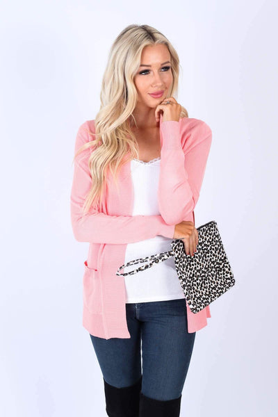 Cielo Tops Peach / S Must Have Cardigans