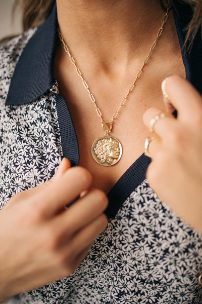 Fame Accessories Necklace Gold / OS / 05-A-17 Petrina Pendant Necklace