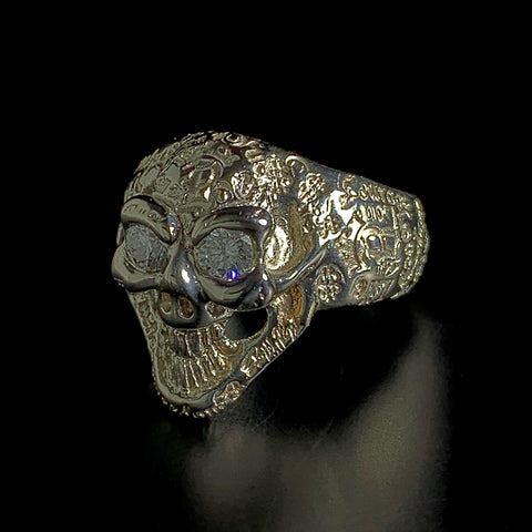 Graffiti Small Good Luck Skull Ring Custom