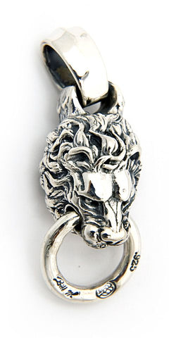 Lion with Mouth Ring Pendant