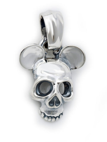Skull Ghost Mask w/Ears Pendant