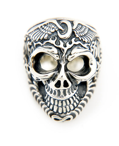 Flying Tire Graffiti Master Skull Ring