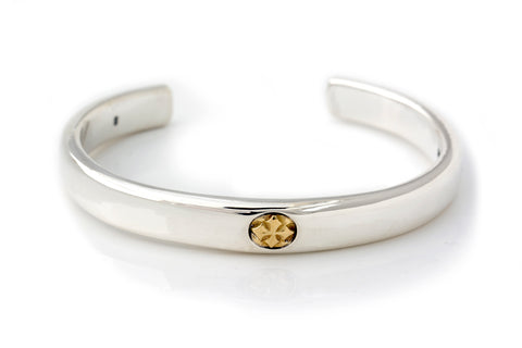 "BWL Bracelet - ""C"" Cross Bangle with 18k (Y) Gold Cross"