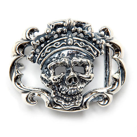 Skull Crown Belt Buckle