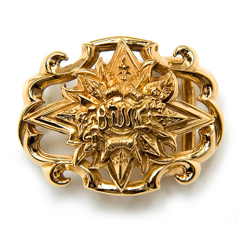 Bronze BWL Nautical Star Buckle