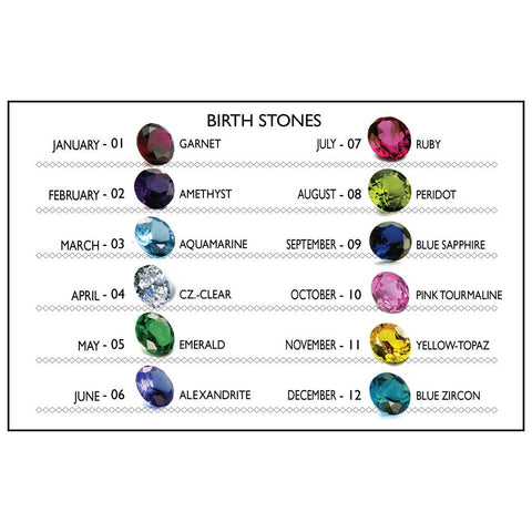 BWL Button Charm with Stones
