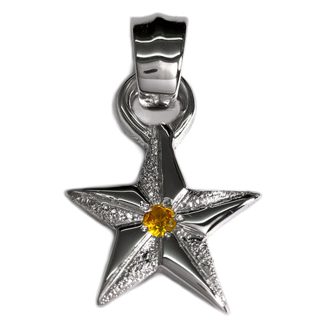 Custom Rhodium Plated Star Charm