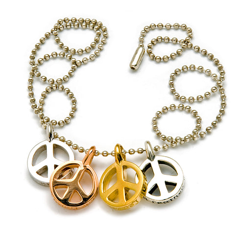 Single Peace Sign Charm